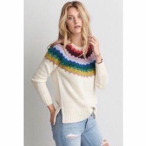 American Eagle Ahh-Mazingly Soft rainbow sweater🌈